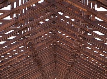木材古来の組子技術を駆使した屋根組